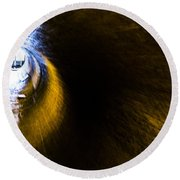 Ventilation Tunnel 2 Round Beach Towel
