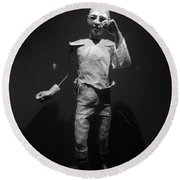 Ventriloquist Round Beach Towel