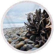 Ventura Driftwood  Round Beach Towel