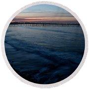 Ventura Pier Sunrise Round Beach Towel by John Daly