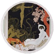 Venus Round Beach Towel by Georges Barbier