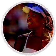 Venus Williams Round Beach Towel