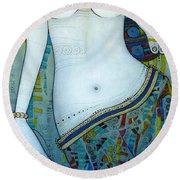Venus With Doves Round Beach Towel