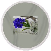 Vera The Vanda Round Beach Towel
