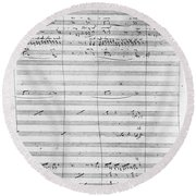 Verdi Rigoletto, 1850 Round Beach Towel