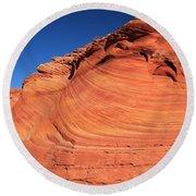 Vermilion Mounds Round Beach Towel