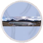 Vermillion Lakes, Banff National Park - Panorama Round Beach Towel