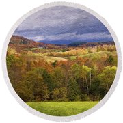 Vermont Colors Round Beach Towel