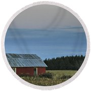 Vermont Full Moon Round Beach Towel