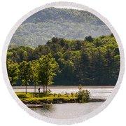 Vermonts Lake Fairlee Round Beach Towel
