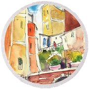 Vernazza In Italy 02 Round Beach Towel
