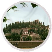 Verona On The Adige Round Beach Towel