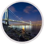Verrazano-narrows Bridge  Round Beach Towel