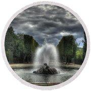 Versailles Fountain Round Beach Towel