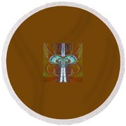 Vertebrae I Round Beach Towel