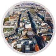 Vertical Aerial View Of Berlin Round Beach Towel