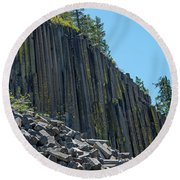 Vertical View Round Beach Towel