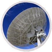 Very Large Array Of Radio Telescopes 4 Round Beach Towel