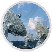 Very Large Array Of Radio Telescopes Round Beach Towel