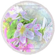 Very Tiny Wildflower Boquet Digital Paint Round Beach Towel