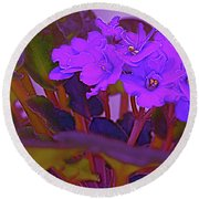 Very Violets  Round Beach Towel