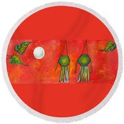 Vesak Lanterns Round Beach Towel
