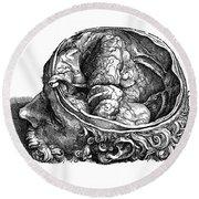 Vesalius: Olfactory Organs Round Beach Towel