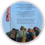 Veterans Remember Round Beach Towel by Carolyn Marshall
