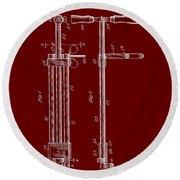 Veterinary Molar Extraction Patent 1911 Round Beach Towel