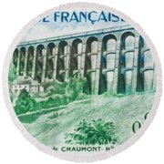 Viaduct Chaumont Haute-marne Round Beach Towel