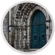 Viana Do Castelo Cathedral Round Beach Towel by James Brunker