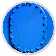 Vibrant Blue Cover Round Beach Towel