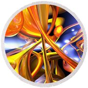Vibrant Love Abstract Round Beach Towel