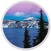 Vibrant Winter Sky Round Beach Towel