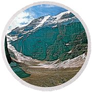 Victoria Glacier From Plain Of Six Glaciers In Banff Np-alberta Round Beach Towel