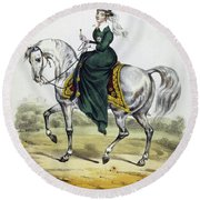 Victoria Of England, C1837 Round Beach Towel