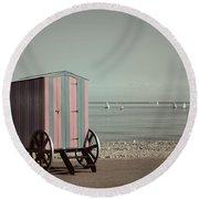 Victorian Bathing Machine Round Beach Towel