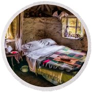 Victorian Bedroom Round Beach Towel by Adrian Evans
