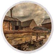 Victorian Colliery Round Beach Towel by Adrian Evans