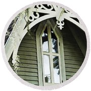 Victorian Gable St Francisville Louisiana Round Beach Towel