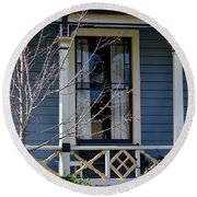 Victorian Home In Napa Valley Round Beach Towel