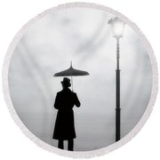 Victorian Man Round Beach Towel by Joana Kruse