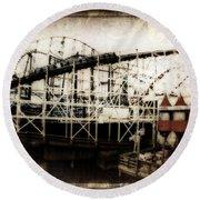 Victorian Roller Coaster Round Beach Towel
