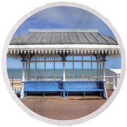 Victorian Shelter - Weymouth Round Beach Towel