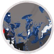 Victoriano Huerta Emilio Madero And Pancho Villa On The Right Ciudad Chihuahua May 1912-2014 Round Beach Towel