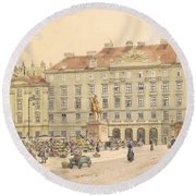 Vienna 1913 Round Beach Towel