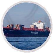 Vienna Express Ship Round Beach Towel