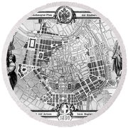 Vienna: Plan, 1860 Round Beach Towel