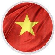 Vietnamese Flag Round Beach Towel