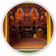 Vietnamese Temple Shrine Round Beach Towel